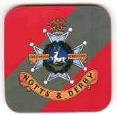 SHERWOOD FORESTERS ( NOTTS AND DERBY ) COASTER